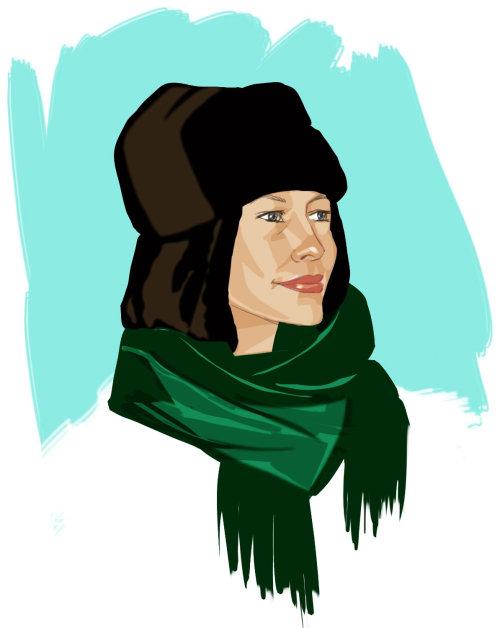Mode écharpe femme - Une illustration de Silke Bachmann