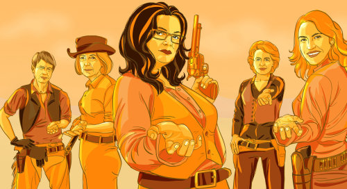 Fashion illustration of lady gang stars