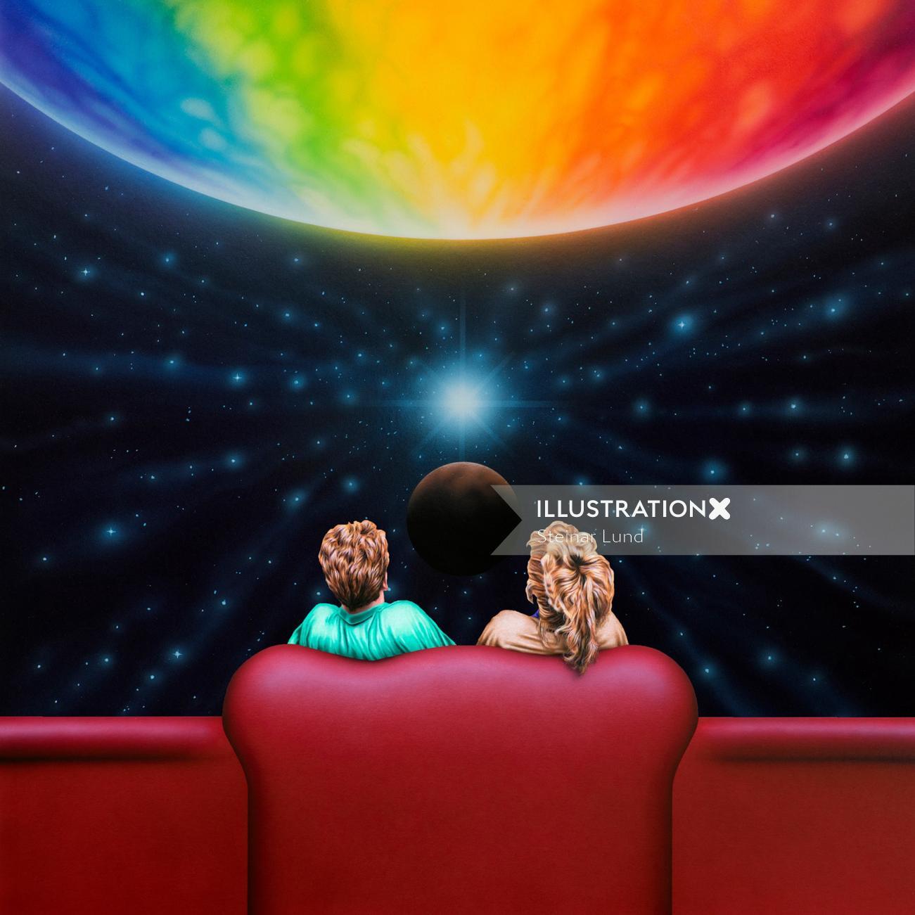 Conceptual space lounge