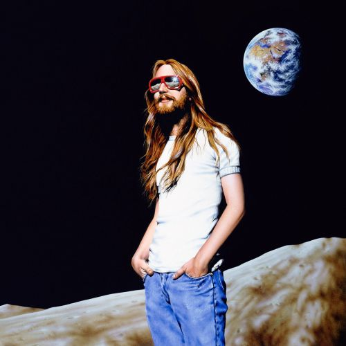 Fantasy Man on the moon