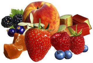 3d rendering art of fruits