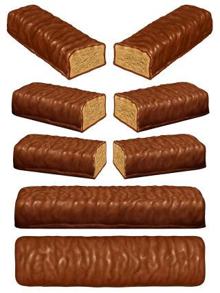 chocolate bar art for animated tv advert