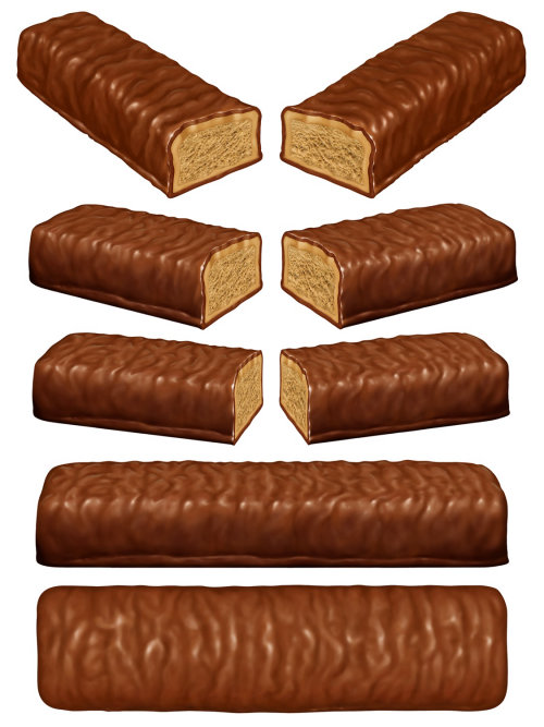 chocolate bar art for animated tv advert