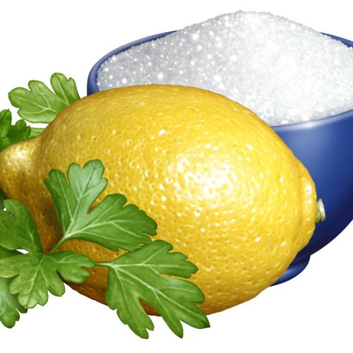 Digital design of Parsley Lemon and bowl of Sugar for Marzetti`