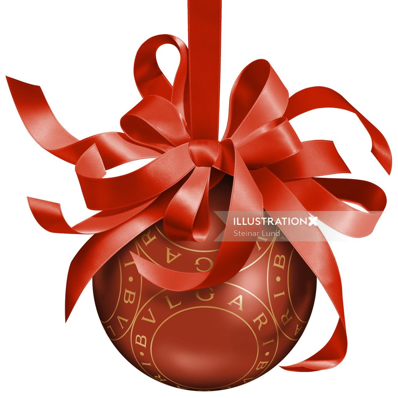Christmas bauble decorative design