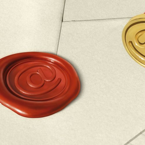 3D model email stamp