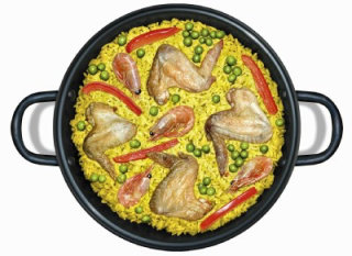 illustration of food paella by Steinar Lund