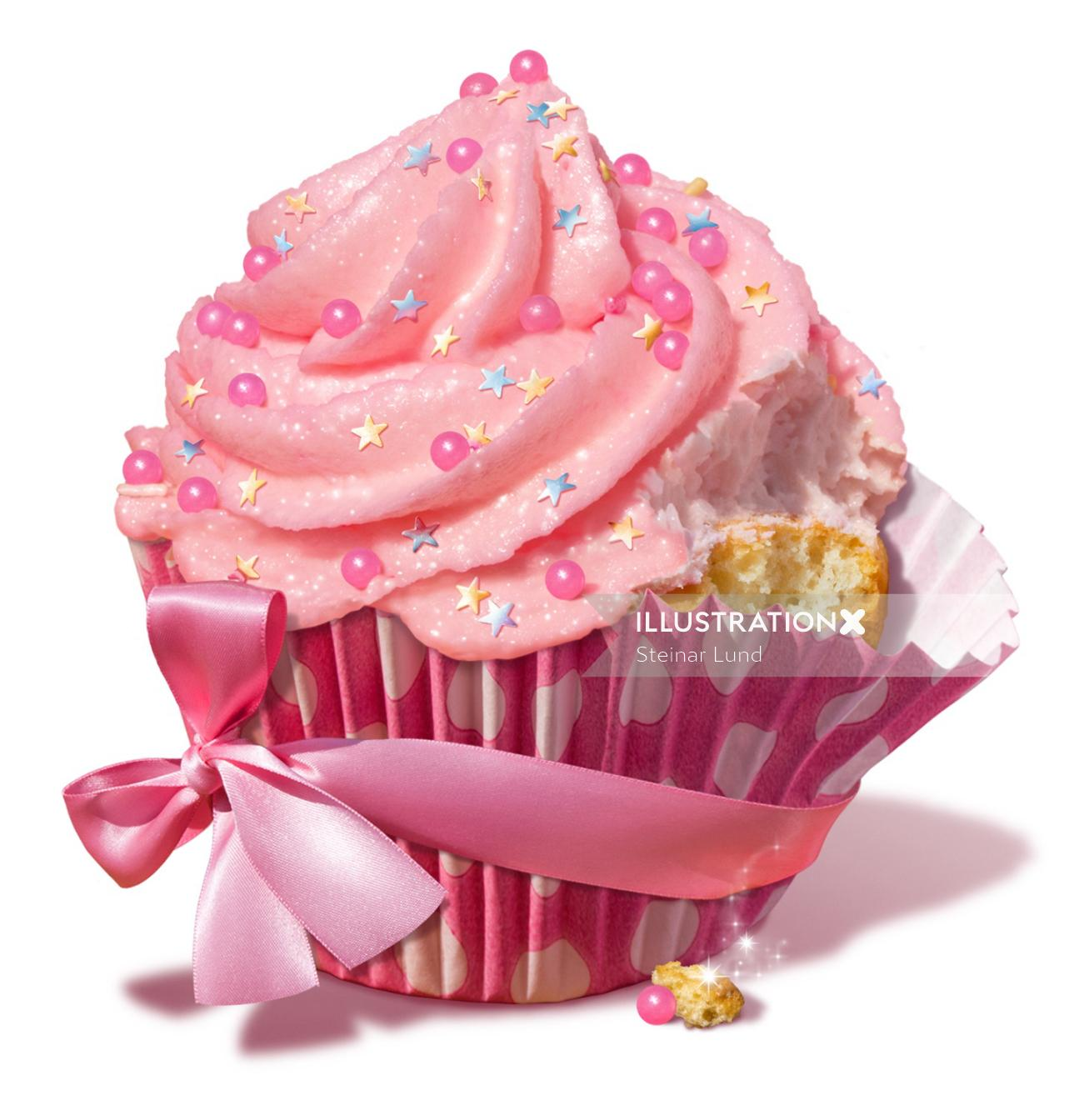 Illustration of Magic Cupcake