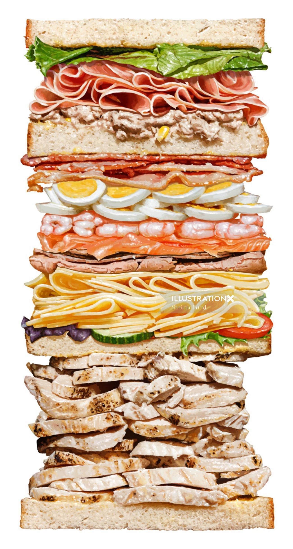 Mega Sandwich illustration