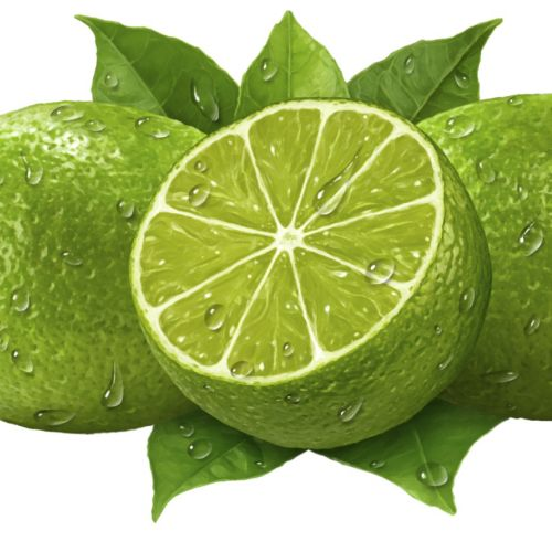 Juicy Limes 3D Rendering Art