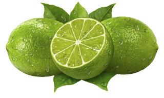 Juicy Limes 3D Rendering Art