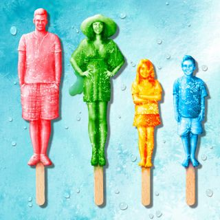 Rendering of Family made of ice lollies