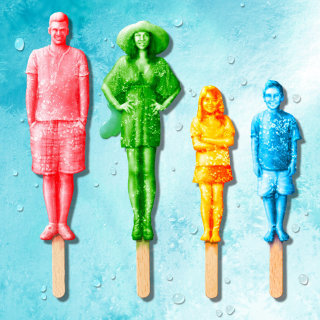 3D Rendering of Family made of ice lollies
