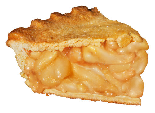 Slice of Apple Pie Food Illustration