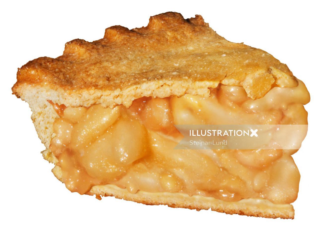 Slice of Apple Pie Food Illustration