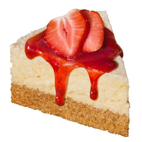 Illustration of Cheesecake with strawberries