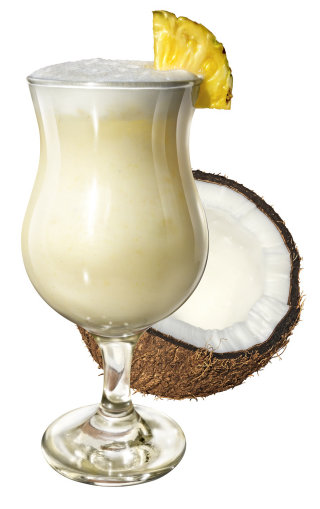 Pina Colada Cocktail with Coconut