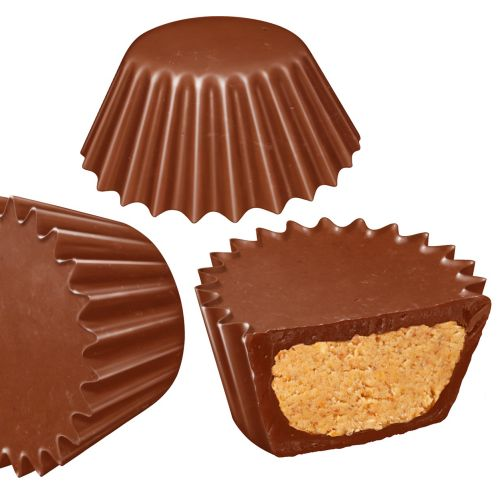 Chocolate cups with Peanut Butter filling