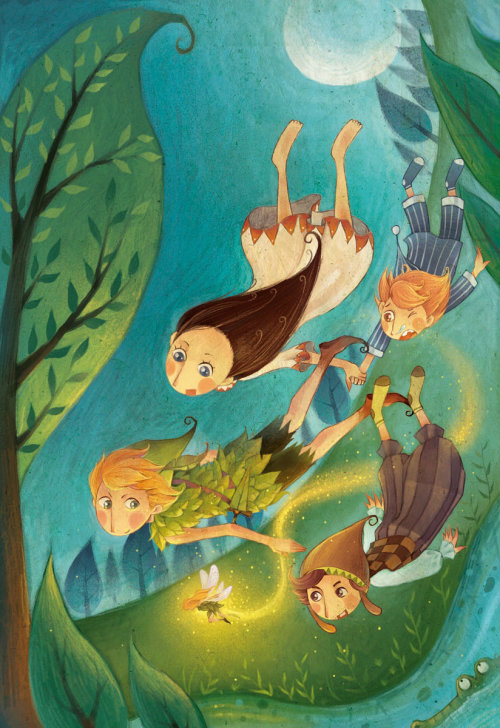 peter pan children book illustration