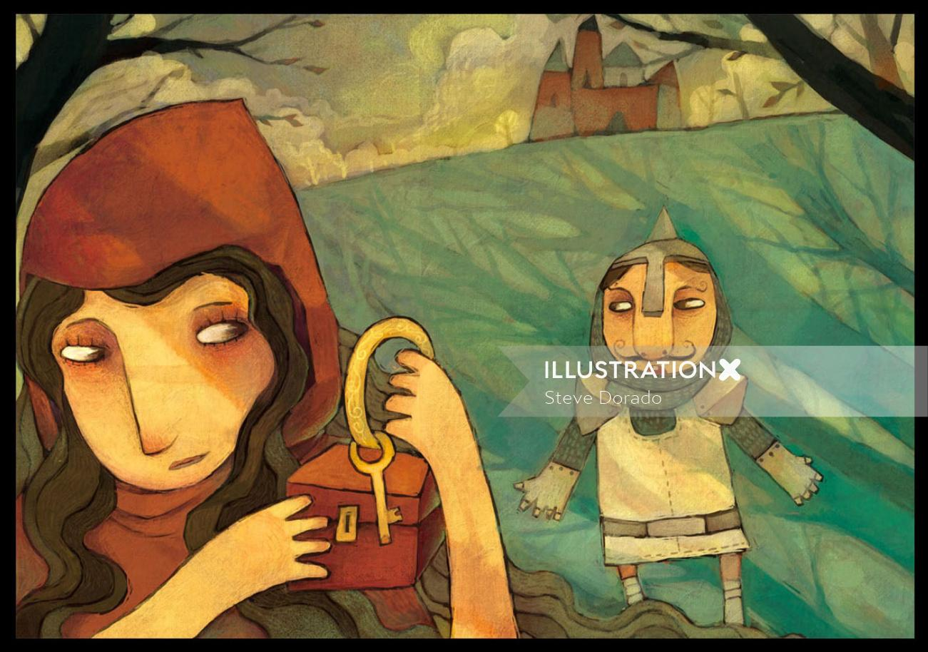 children book character illustration