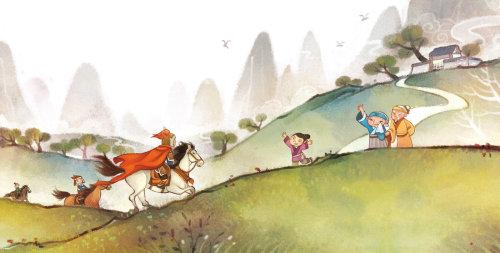 Children and horse rider