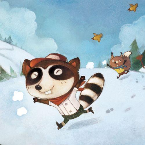 Children Illustration running fox