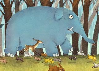 Jungle King Elephant Painting