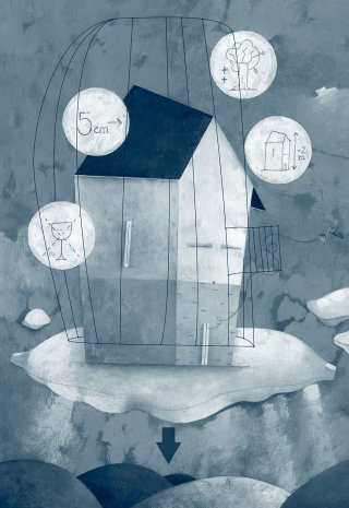 home, house, clouds, restrictions, town-planning, law, juridic, environment