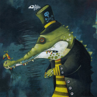 crocodile, mean, bird, thief, outlaw, bandit