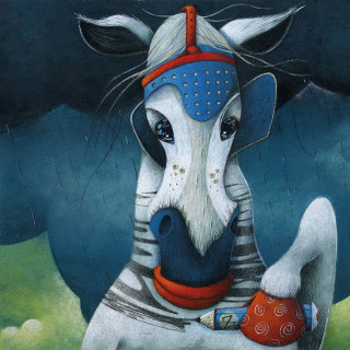 horse, zebra, stripes, coloring, pencil