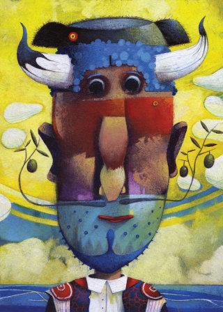 illustration, STeven Van Hasten, Spanish, man, humour