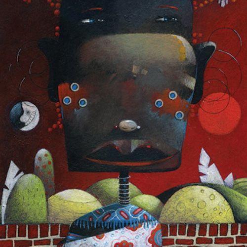 Africa, woman, moon, forest, birds, henna, evening