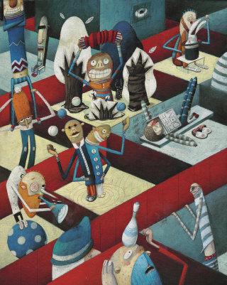 circus juggling prison pyramid music