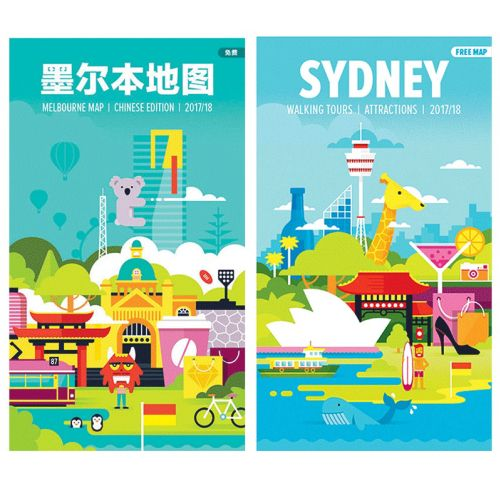 Animation video Australian City Tourist Map