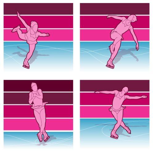 Skating in olympics illustration by Stuart Holmes