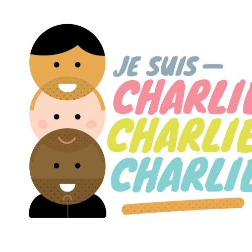 Lettering art of Je Suis Charlie