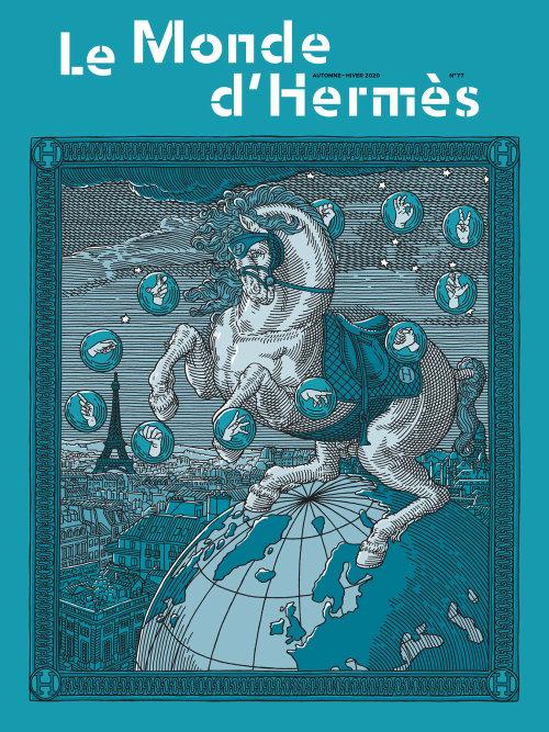 Hermes Magazine Cover illustration