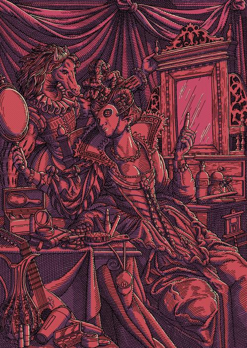 Lipstick innovation editorial illustration