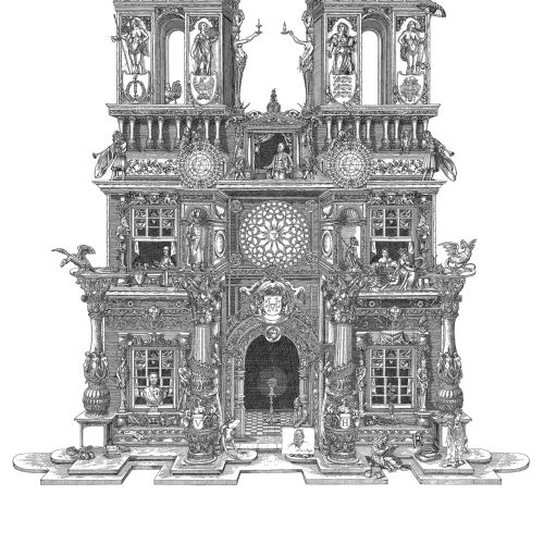 Triumphal arch historical architecture illustration