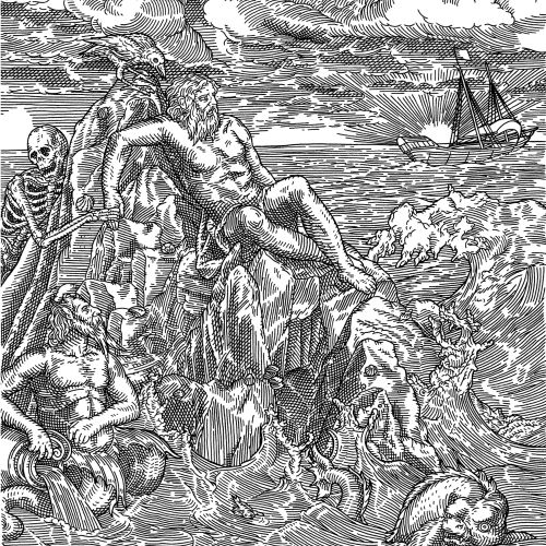 Black and white illustration of The Sailing Of The Cashmere