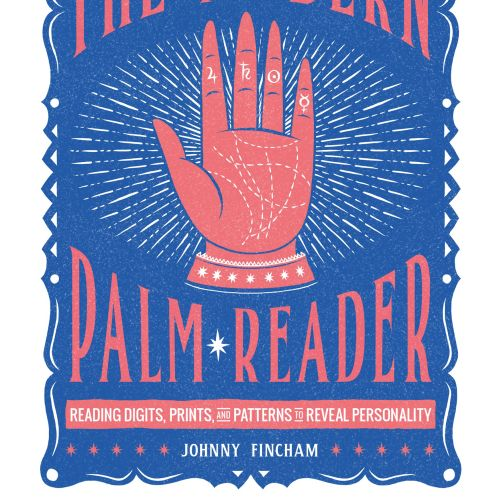 Book Cover design of A modern palm reader