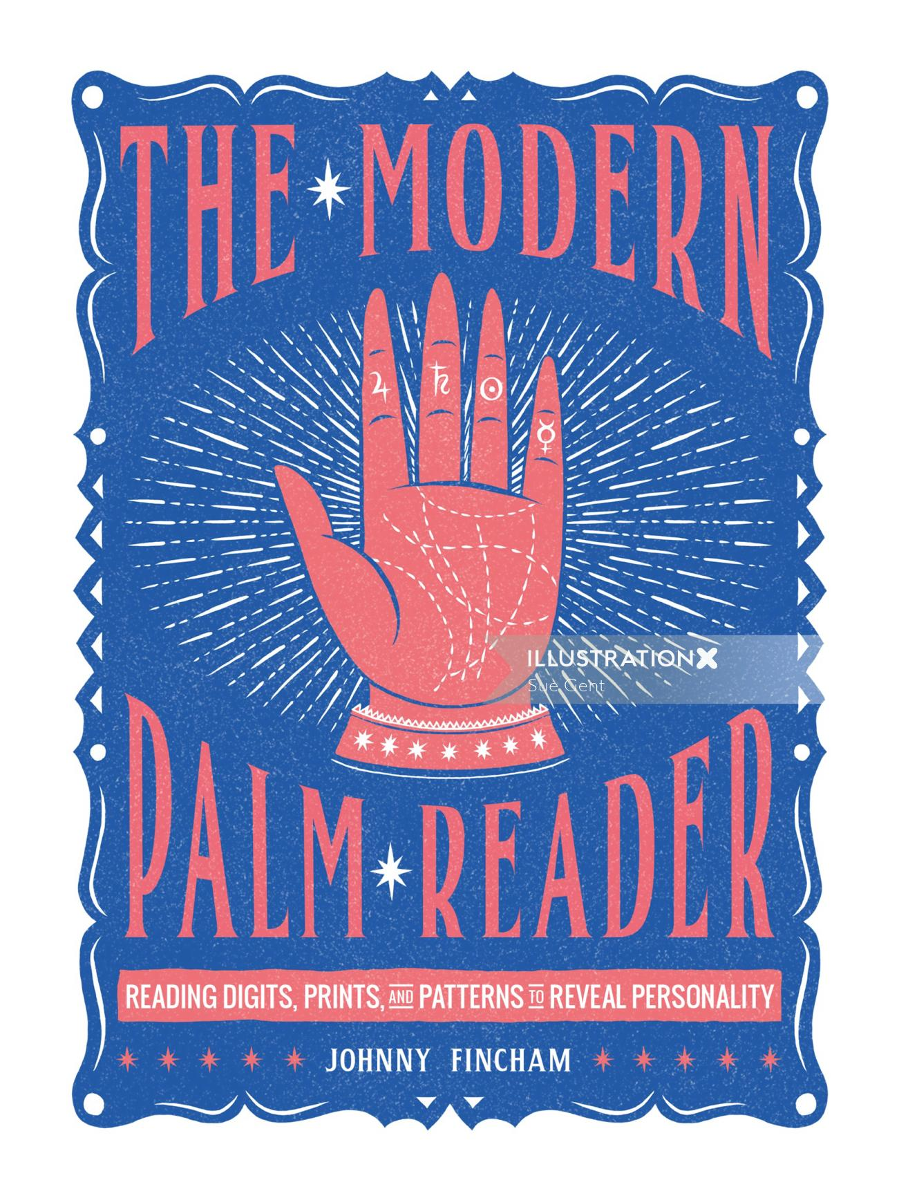 Book Cover design of A modern palm reader