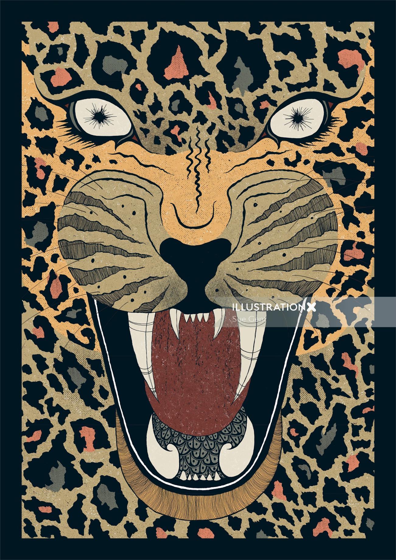 Animals Leopord roar