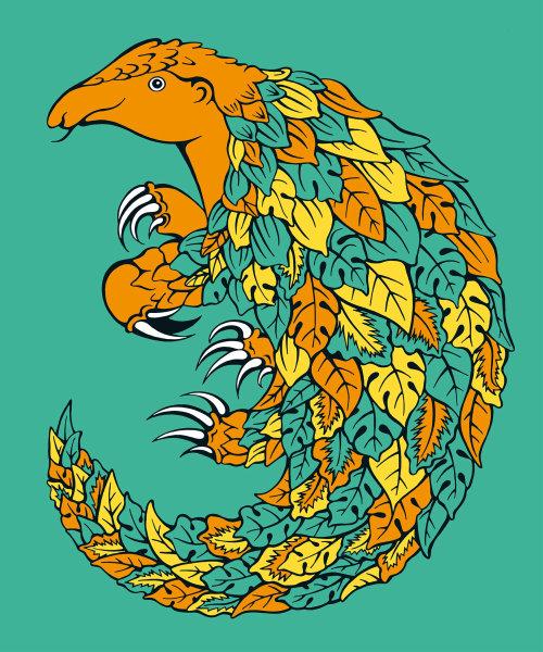 Graphic illustration of animal