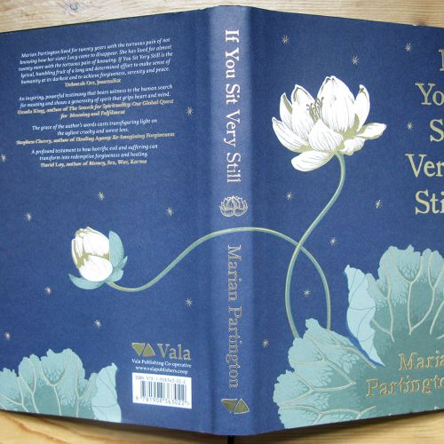 If you sit vert still book cover design