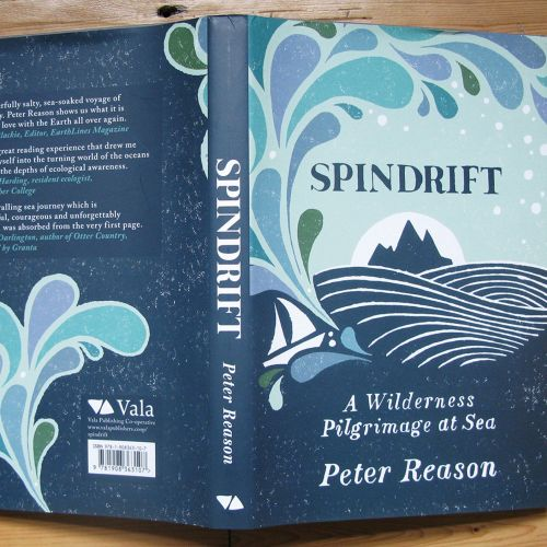 Book cover design for spindrift