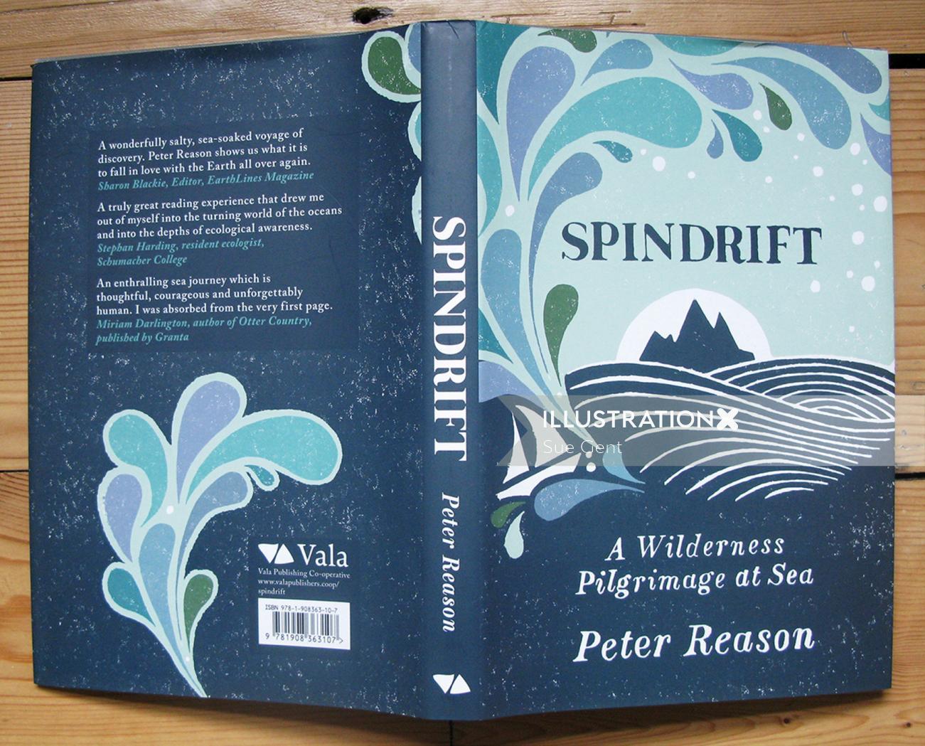 Book cover design for spindrift
