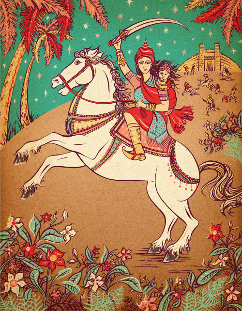 Rani lakshmi bai book cover design