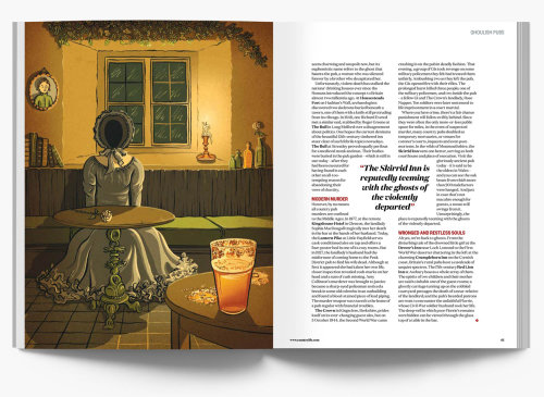 Editorial illustration of page design