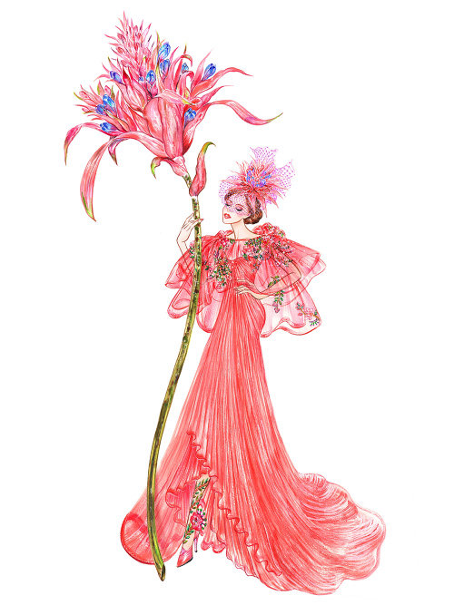 Illustration de l'aquarelle de la robe de la tenue de fantaisie